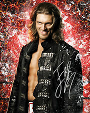 EDGE #1 (WWE) - 10X8 PRE PRINTED LAB QUALITY PHOTO (SIGNED) (REPRINT)