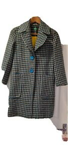 Vintage UNITED COLOURS of BENETTON Multicoloured LONG COAT size XS (6)