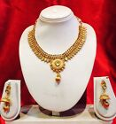 Bollywood Indian Bridal Necklace Earrings Jewellery Set Antique Gold Tone P3