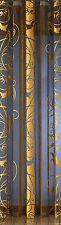 Vorhang Schal Gardine Store gold-schwarz modern Raumteiler 160 x 245cm 910 NEU