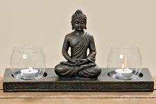 Windlicht Buddha Figur sitzend 17x32 cm