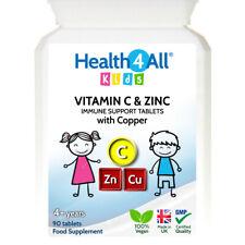 Health4All Kids Vitamin C, Zinc & Copper Immune Support Tablets for Children 4+