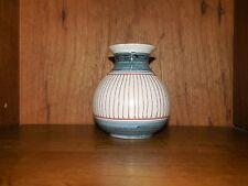 "Elle Pottery of Norway Studio Art Pottery Bud Vase MCM Signed & Numbered 4"""