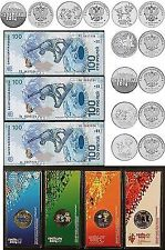 Olympic Games Sochi FULL SUPER SET ALL 11x25 ROUBLES 2011-2014 & 3x100 rubles