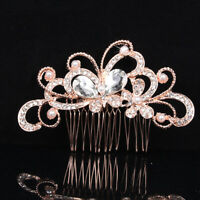 Crystal Glitter Hair Comb Hairpin Clip Pearl Flower Butterfly Wedding Jewellery