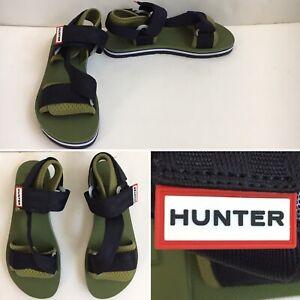 Hunter Original Mens US 10 Beach Strap Sandal Green, New with Tag