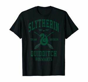 Harry Potter Slytherin Team Seeker Hogwarts Quidditch T-Shirt Black S-5XL