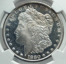 1880 UNITED STATES of America SILVER Morgan US Dollar Coin EAGLE NGC MS i79590