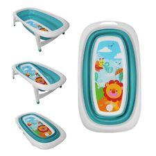 Baby Bath Time Foldable Splash & Play Turqoise Lion Design Transportable BathTub