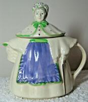 "Vintage SHAWNEE Art Pottery Granny Ann 8"" Teapot Hand Painted Mid-Century Modern"