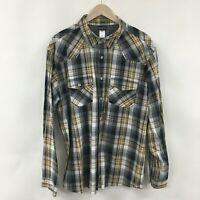 Mens XL PATAGONIA Organic Cotton Plaid Shirt -SUPERB- 2c