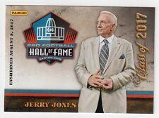 Jerry Jones Panini NFL Pro Football Hall of Fame Class of 2017 Card HOF Cowboys