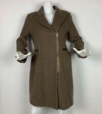 BCBG Maxazria Coat Jacket Cashmere Wool Brown Women Sz M