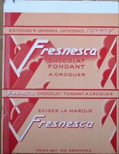 Art Deco French Chocolate Bar 1920s Label - 'Chocolat Fondant Fresnesca'