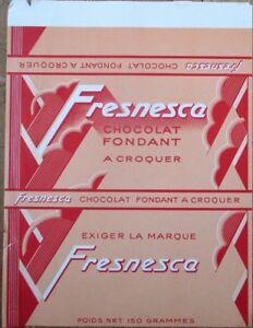Art Deco French Chocolate Bar 1920s Label - 'Chocolat Fondant Fresnesca'
