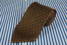 Brooks Brothers Uomo & Verde Collegamento Stampa Cravatta 147x9.5cm