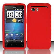 Silicone Skin Case for HTC Vivid - Red