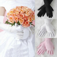 Women's Satin Long Gloves Opera Wedding Bridal Evening Party Prom Costume Sleeve