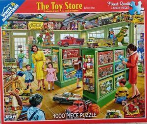 White Mountain THE TOY STORE Vintage #1152 Jigsaw Puzzle 1000 24x30 2015 Crisp