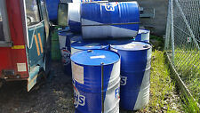OIL DRUMS 205 LTR USED CONTAINED ENGINE OIL IDEAL FOR BURNING GARDEN RUBBISH