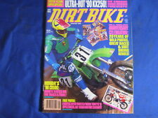DIRT BIKE MAGAZINE-JAN 1990-KX250H1-CR500L-125/500 NAT-CHICKEN MAT-20 YRS ANNIV.