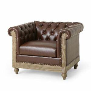 Batavia Chesterfield Tufted Club Chair with Nailhead Trim