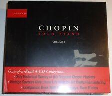 Sealed: Andante 4 CD set Chopin Solo Piano Vol.1 Cortot, Busoni, Horowitz