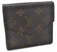 Auth Louis Vuitton Monogram Porte Monnaie Billets Wallet M61660 LV A5481
