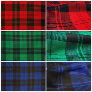 Flanela 100% Algodón Cuadros Escoceses a Tela Decoración Camisas Vestimenta