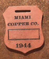 New listing 1944 Wartime Ww 2 Miami Copper Company Fiberboard Mine Tag Id Fob Shield Design