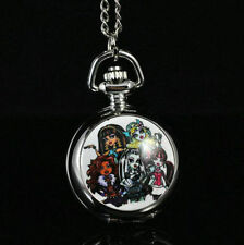 Monster High Draculaura Necklace Pocket Watch Child Girl Watch Fashion