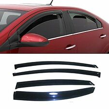 SMOKED DOOR VISOR WINDOW SUN RAIN WIND DEFLECTOR HYUNDAI SONATA-2011-2014 .