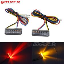 Rear Mini LED Light Smoke Brake Turn Signal Lights For Yamaha Chopper Cafe Racer