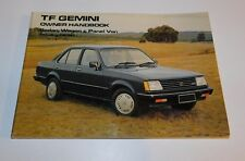 NOS HOLDEN GEMINI TF FACTORY OWNERS HANDBOOK / GLOVEBOX MANUAL NEW OLD STOCK
