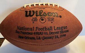 SUPER BOWL XXIV 24 Authentic Wilson NFL Game Football - 49ers V Broncos