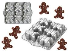 Nordicware GINGERBREAD KIDS Heavy Cast HOLIDAY CAKELET Pan 6 BOYS & GIRLS Cakes