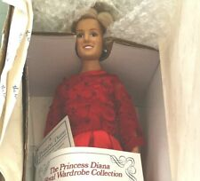 Danbury Mint Princess Diana Royal Wardrobe Doll Regal Red Satin w/Original Box