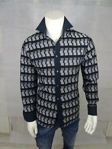 """SIGNUM Design- Hemd, Gr.""""L"""", schwarz/grau,100%Baumwolle,guter Zustand"""
