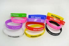 Wholesale Lots 20pcs Mens Woman Rubber Best Friend Bracelet  Silicone wristbands