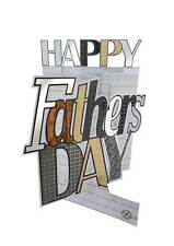 Happy Father's Day Card 3D Cutting Edge Greeting Cards Blank Inside