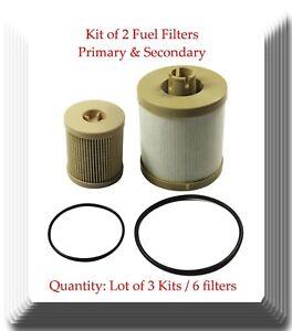 Lot of 3 x Kit 2 Fuel Filter Fits:F250 350 450 550 650 750 Excursion 4.5L 6.0L