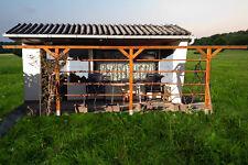 Pergola 500cm aus Holz in Teak, Gartenpergola, Rosenpergola mit H-Anker NEU!