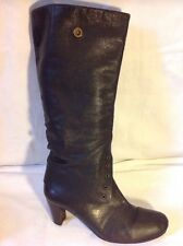 Mirror Brown Knee High Leather Boots Size 39