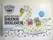Big Mouth Inc Polka Dot Swan Inflatable Drink Holder Pool Party Holds 3 Drinks