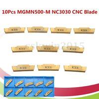 10pcs MGMN500-M NC3030 CNC Drehbank Klinge Gold Wolfram Stahl Beschichtet Fräsen