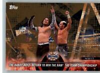2018 WWE Road to Wrestlemania bronze #25 Matt Jeff Hardy Boyz