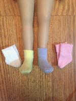 """4 pair pastel Ankle Socks for 13"""" Effner Little Darling doll"""
