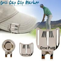 One Putt Golf Putting Alignment Aiming Tool Ball Marker with Magnetic Hat Clip