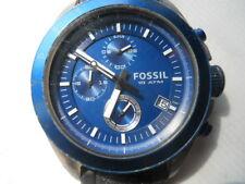 Fossil chronograph men's Blue rubber band quartz & battery Analog watch.Ch-2784