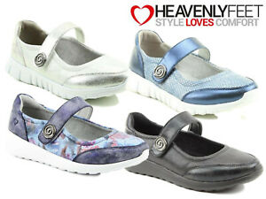 Ladies Lightweight Casual Shoe Heavenly Feet Memory Foam Comfort Mary Jane Pump